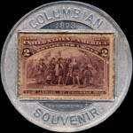 Timbre-monnaie Columbian Exposition 1892 - 2 cents - revers