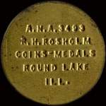 Timbre-monnaie R.H.Rosholm type 3 1958 - 1/2 cent - avers