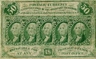 Postage currency 50 cents - face