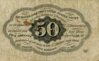 Postage currency 50 cents - dos