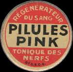 Timbre-monnaie Pilules Pink type 2